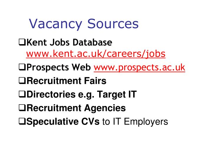 Vacancy Sources
