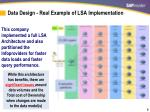data design real example of lsa implementation