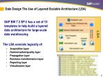 data design the use of layered scalable architecture lsa