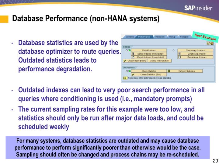 Database Performance (non-HANA systems)