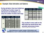 example data activation and options