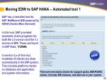 moving edw to sap hana automated tool 1