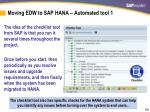 moving edw to sap hana automated tool 11