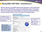 moving edw to sap hana automated tool 2