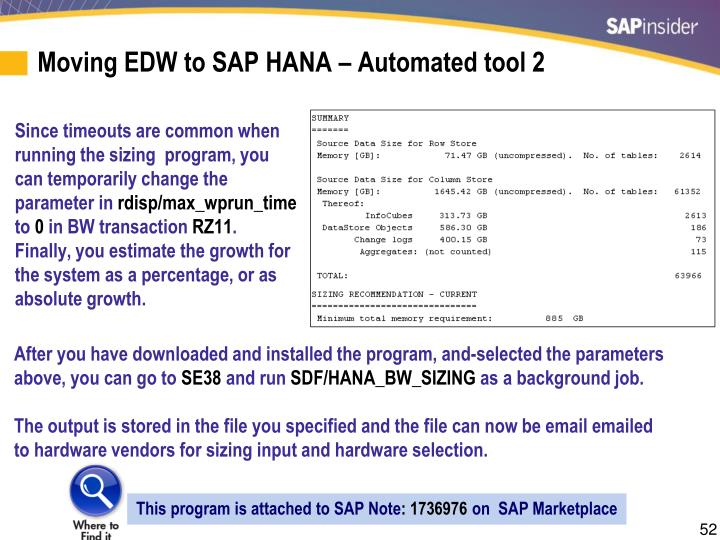 Moving EDW to SAP HANA – Automated tool 2