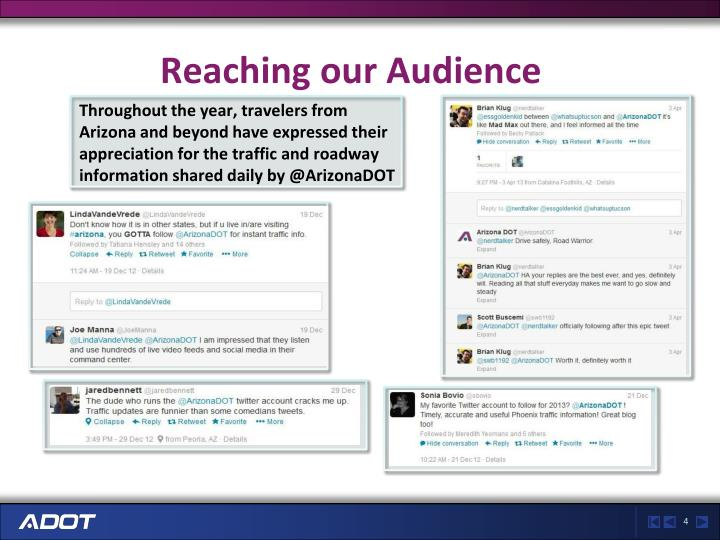 Reaching our Audience