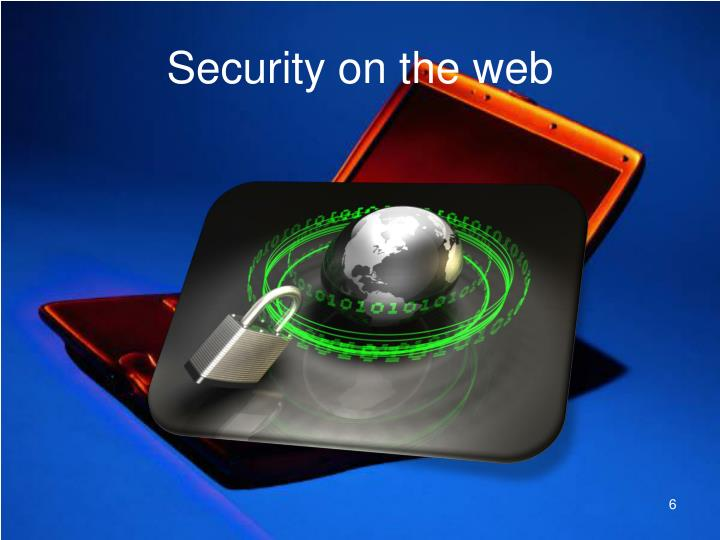 Security on the web