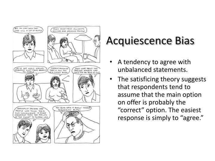 Acquiescence Bias