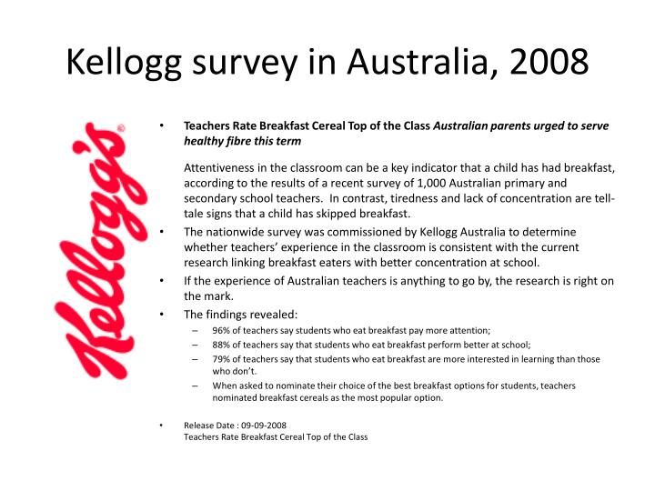 Kellogg survey in Australia, 2008