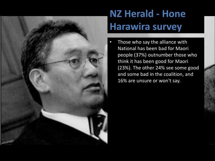 NZ Herald - Hone Harawira survey