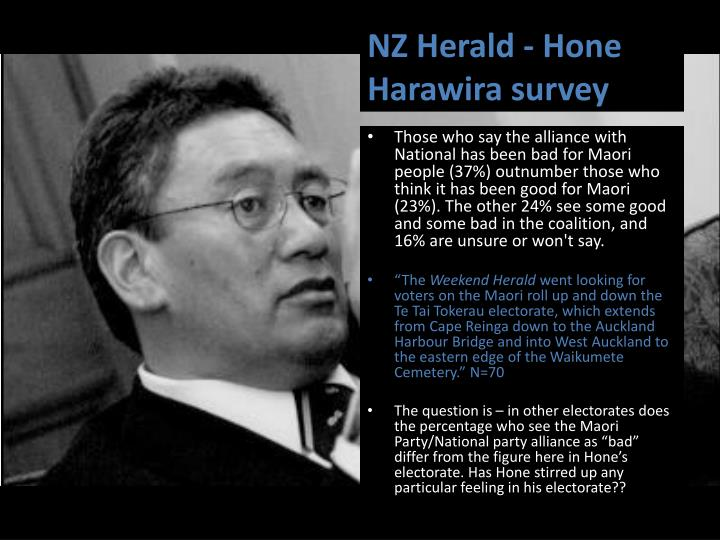 NZ Herald - Hone Harawira survey