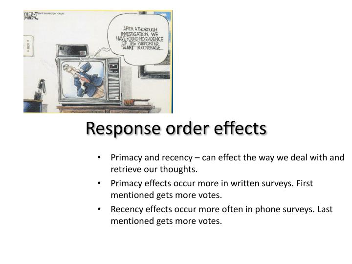 Response order effects
