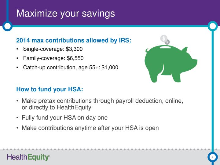 Maximize your savings