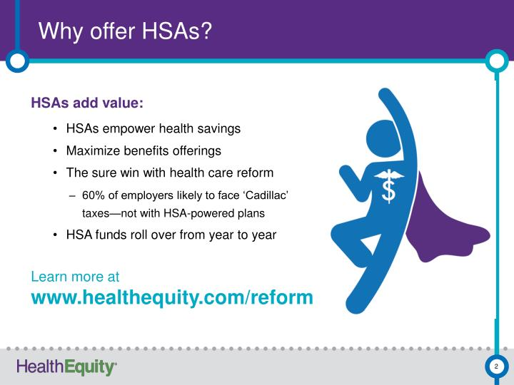 Why offer HSAs?