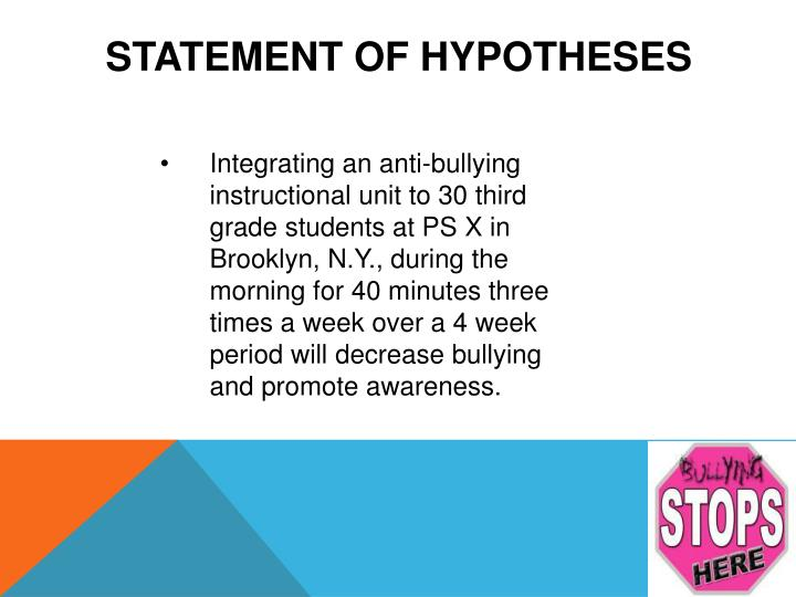Statement of Hypotheses