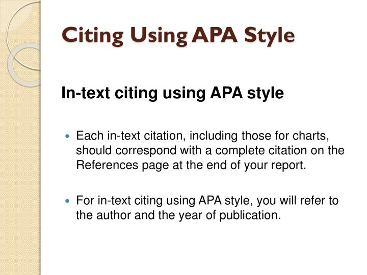 how to create citation apa style