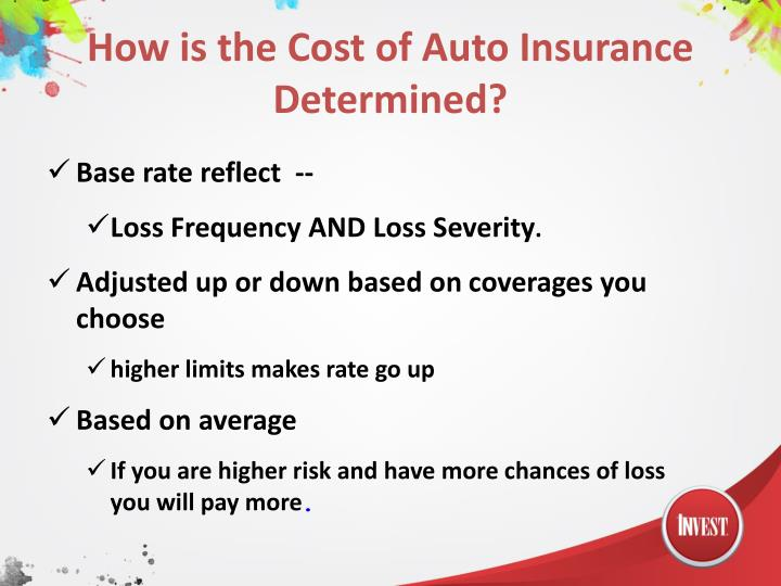 How is the Cost of Auto Insurance Determined?