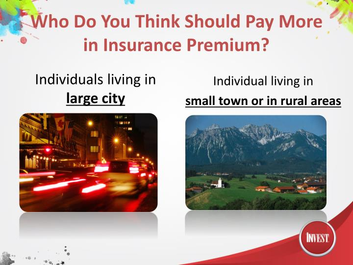 Who Do You Think Should Pay More in Insurance Premium?