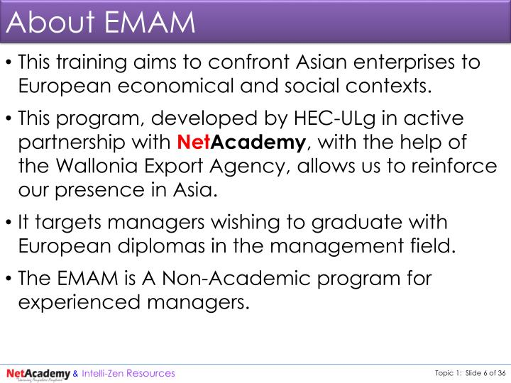 About EMAM