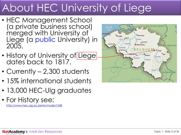 About HEC University of Liege
