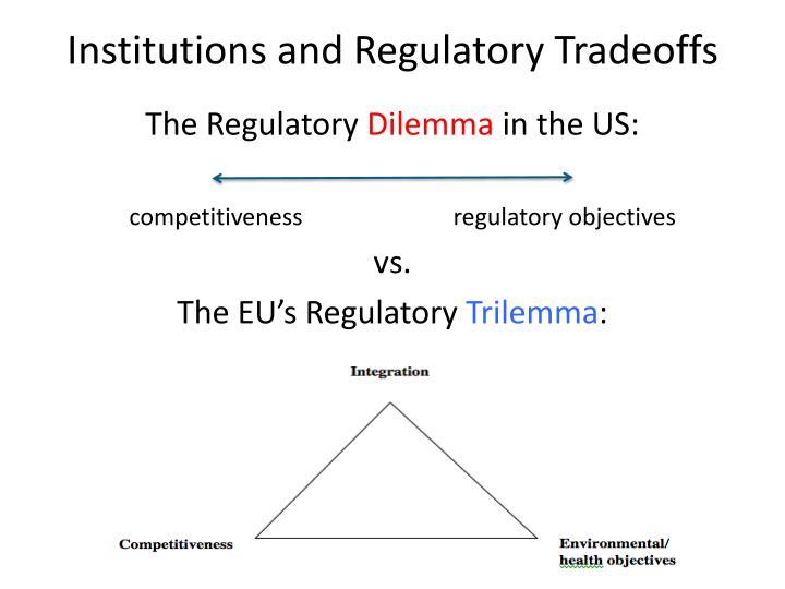 Institutions and Regulatory Tradeoffs