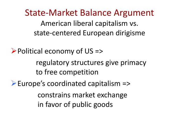 State-Market Balance Argument