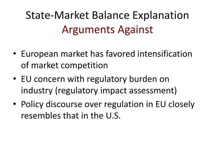 State-Market Balance Explanation