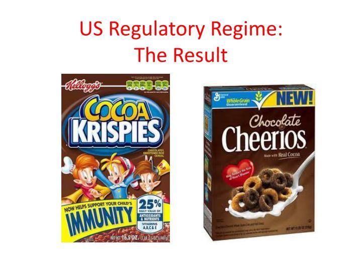 US Regulatory Regime: