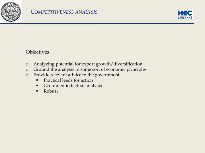 Competitiveness analysis