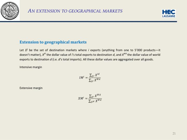An extension to geographical markets