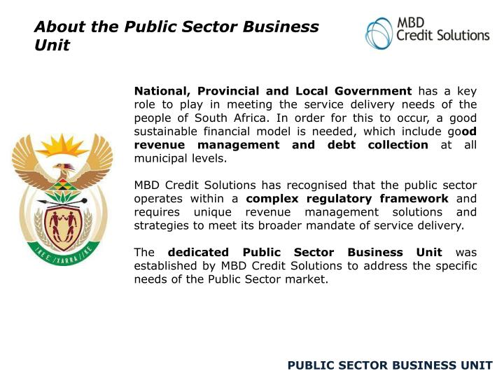 About the Public Sector Business Unit