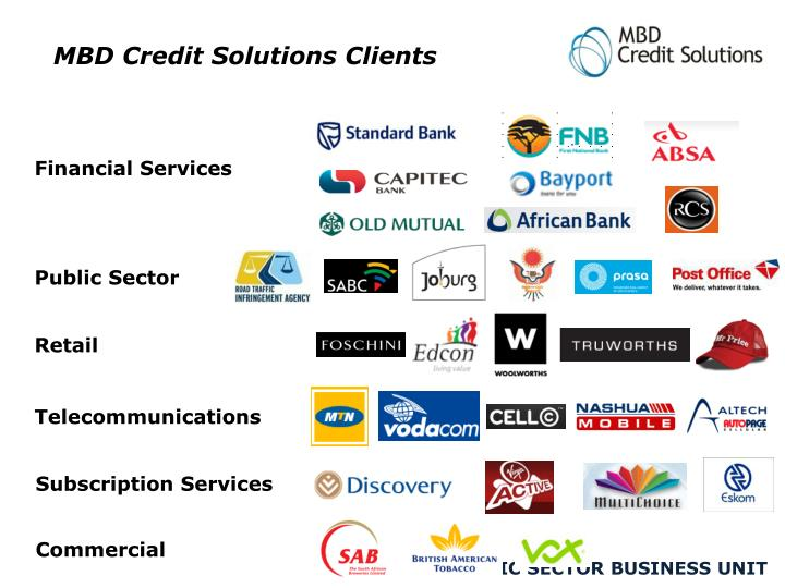 MBD Credit Solutions Clients