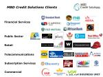mbd credit solutions clients