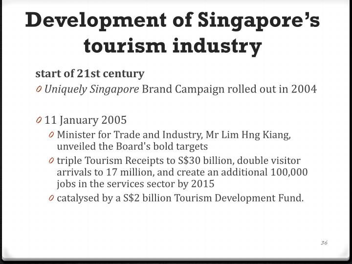 Development of Singapore's tourism industry
