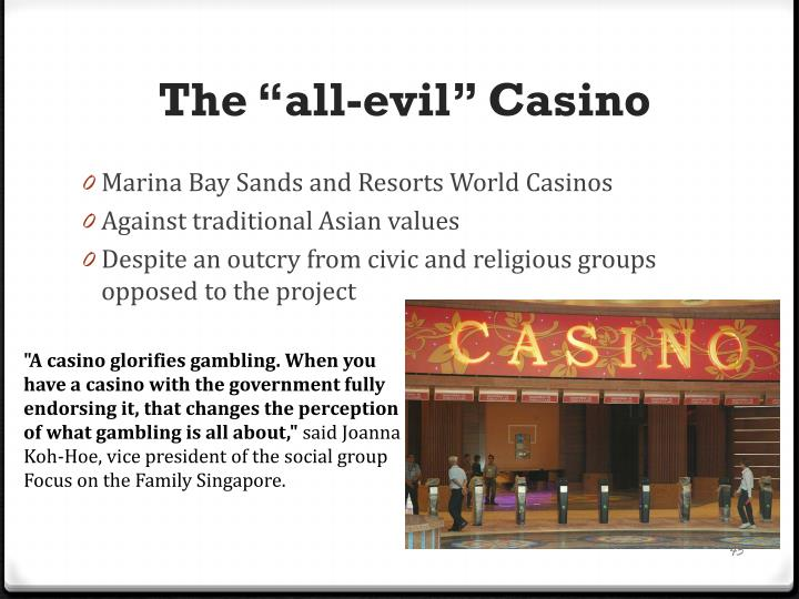 "The ""all-evil"" Casino"