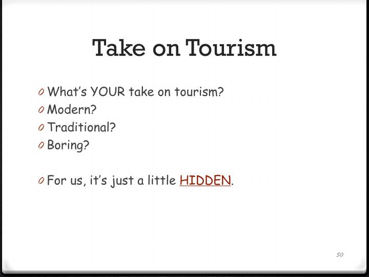 Take on Tourism