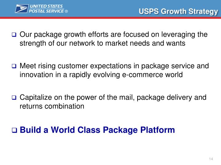 USPS Growth Strategy