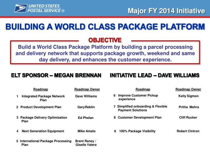 Major FY 2014 Initiative