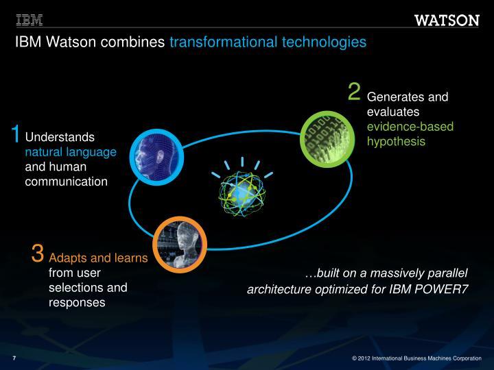IBM Watson combines