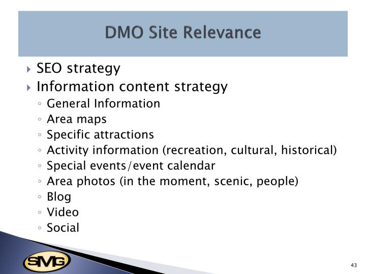DMO Site Relevance
