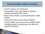 travel reviews video summary
