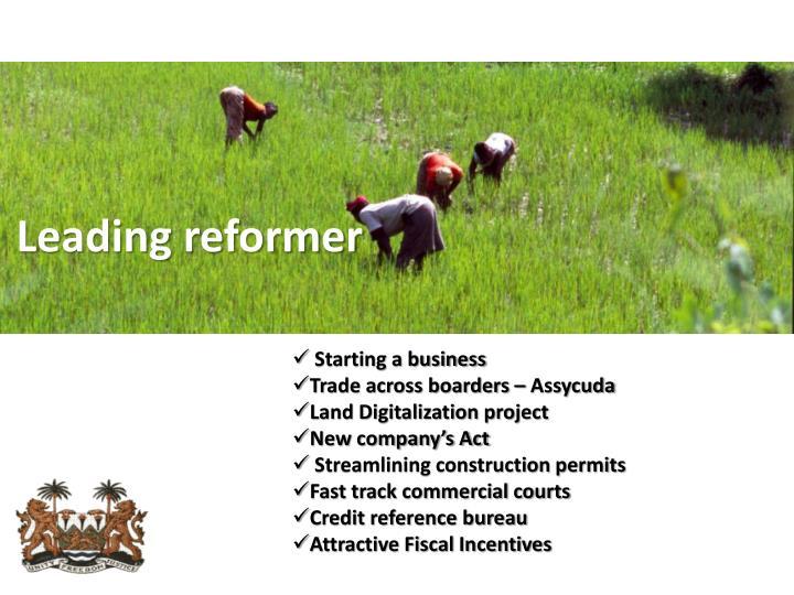Leading reformer