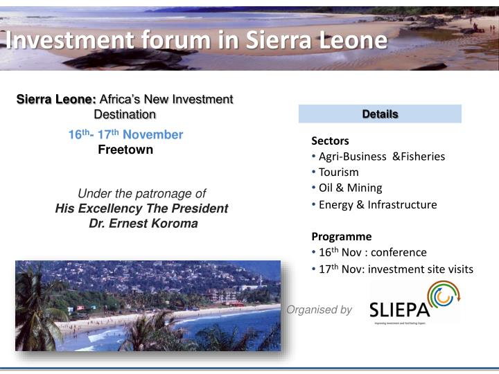 Investment forum in