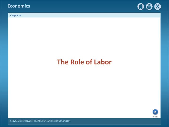 The Role of Labor
