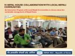 iv nepal house collaboration with local nepali communities