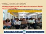vi program on nrns voting rights