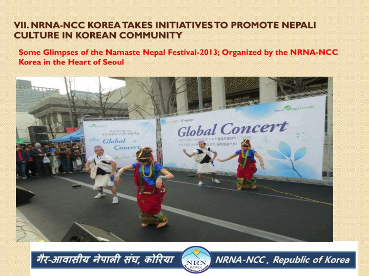 VII. Nrna-ncc Korea takes initiatives to promote