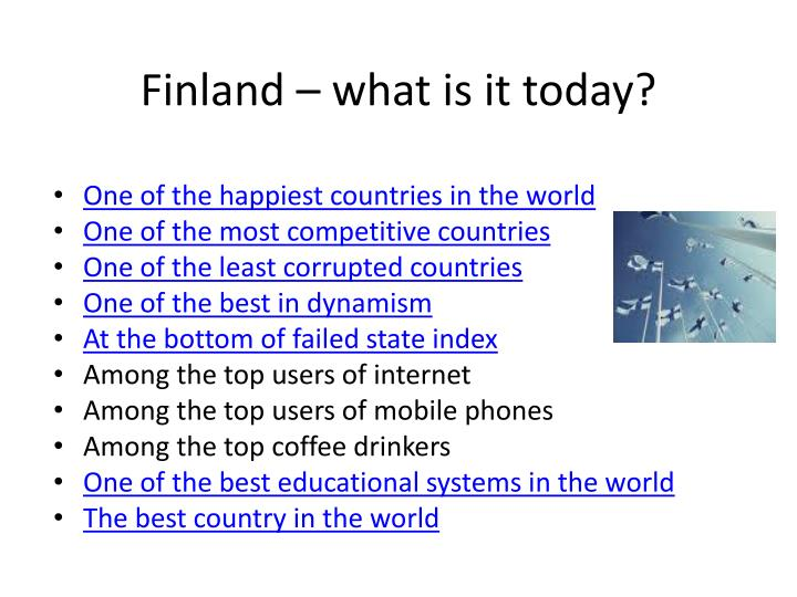 Finland – what is it today?