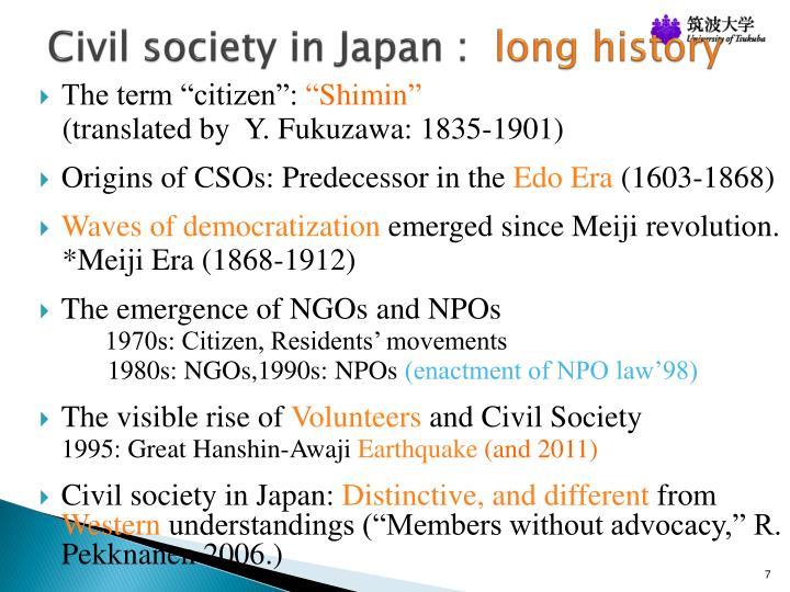Civil society in Japan :