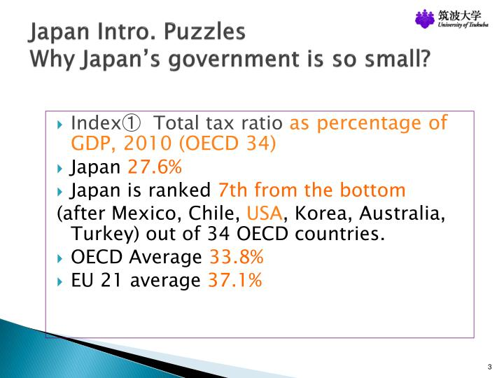 Japan intro puzzles why japan s government is so small